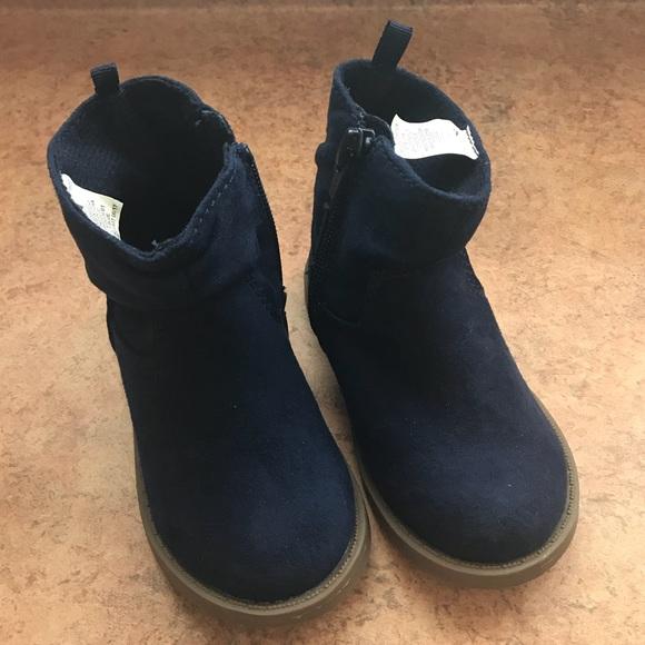 Never Worn Navy Blue Toddler Boots